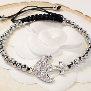 NEW Anchor Pave CZ Bracelet